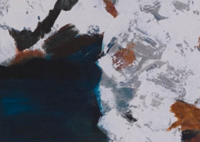 """94/14 """"Jan Mayen"""" Acryl, Zement"""